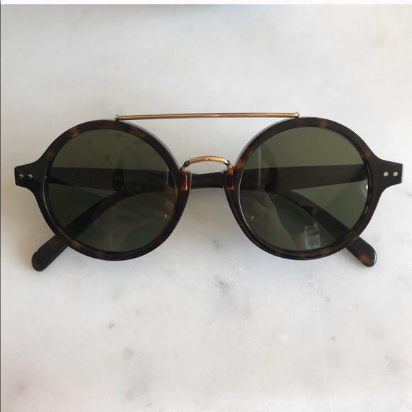 "1e7ba793b2 Celine Accessories - Celine ""Thin Ella"" Sunglasses 41346 in Dark Havana"